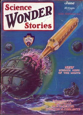 Qu'est-ce que la Science-Fiction ? - Couverture du magazine Science Wonder Stories