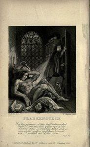La Science-Fiction, un genre bien né - Frontispice de Frankenstein Édition revue de 1831