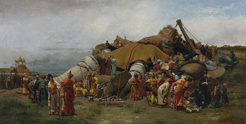 Gulliver et les Lilliputiens par Jehan-Georges Vibert